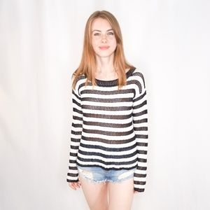 ALICE + OLIVIA Striped Knit Sweater 0950